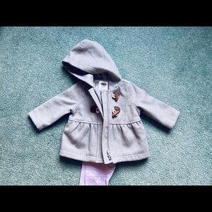 3-6 mon Old Navy Grey baby pea coat